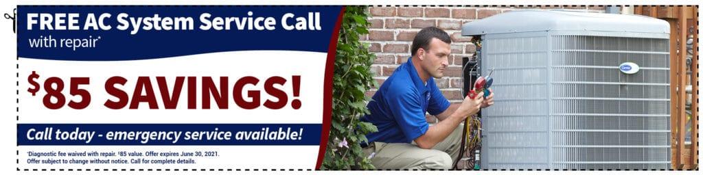 free hvac service call
